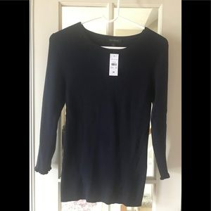 Ann Taylor Long sleeve Top New w Tags - Blue  Med.
